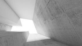 Intérieur concret blanc vide 3d Photographie stock