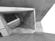 Intérieur concret de pièce avec la structure 3d cubique illustration libre de droits