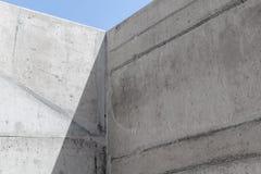 Intérieur concret vide abstrait, coin image stock