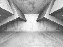 Intérieur concret vide de chambre noire fond d'architecture urbain Images stock