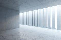 Intérieur concret vide de l'espace Photographie stock