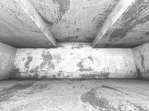 Intérieur concret vide de pièce Abrégez le fond d'architecture Photographie stock libre de droits