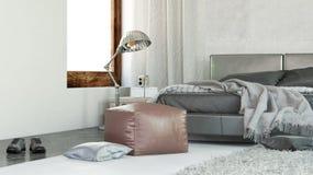 Intérieur confortable moderne de chambre à coucher illustration libre de droits