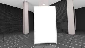 Intérieur contemporain de salon de brique avec le divan et l'affiche vide rendu 3d Photo libre de droits