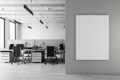 Intérieur coworking moderne avec l'affiche illustration libre de droits