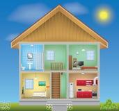 Intérieur détaillé de maison Photo libre de droits