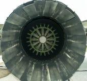 Intérieur d'échappement de dispositif de postcombustion de moteur à réaction des avions MIG 29 Photo libre de droits