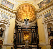 Intérieur d'église à Turin Image stock