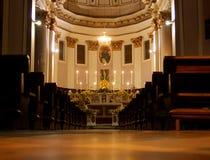 Intérieur d'église Image libre de droits