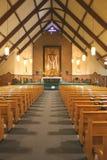 Intérieur d'église Photo libre de droits
