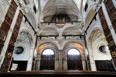 Intérieur d'église de jésuite à Innsbruck Images libres de droits