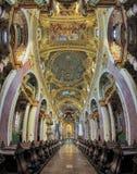 Intérieur d'église de jésuite à Vienne, Autriche Images libres de droits