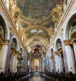 Intérieur d'église de jésuite ou d'université à Vienne, Autriche Photographie stock libre de droits