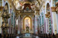 Intérieur d'église de jésuite ou d'université à Vienne, Autriche Image stock