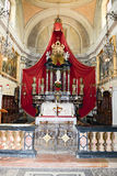Intérieur d'église de Maria de saint chez Morcote sur la Suisse Photo stock