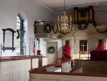 Intérieur d'église de paroisse de Bruton Photo stock