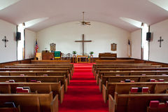 Intérieur d'église de pays Images stock