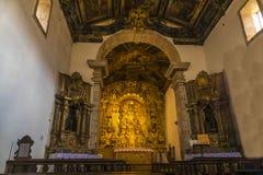 Intérieur d'église de Tiradentes image stock