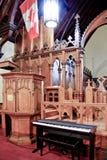 Intérieur d'église de victorian-ère photographie stock