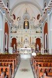 Intérieur d'église et de sanctuaire d'EL Cobre Image stock