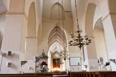 Intérieur d'église. Tallinn. l'Estonie Photo libre de droits