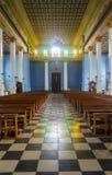 Intérieur d'île d'église Photos stock