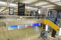 Intérieur d'aéroport à Genève Photos stock