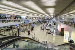 Intérieur d'aéroport à Genève Photo libre de droits