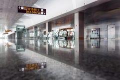 Intérieur d'aéroport de Borispil, Ukraine Photographie stock
