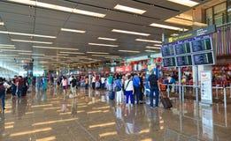 Intérieur d'aéroport de Changi Image stock