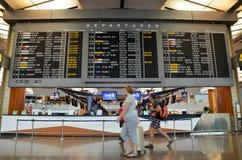 Intérieur d'aéroport de Changi Image libre de droits