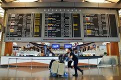 Intérieur d'aéroport de Changi Photos libres de droits