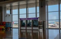 Intérieur d'aéroport de Chengdu Shuangliu photos stock