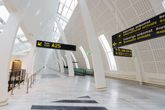 Intérieur d'aéroport de Copenhague Photo libre de droits