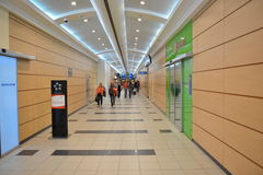 Intérieur d'aéroport de Domodedovo Photo libre de droits