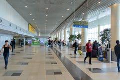 Intérieur d'aéroport de Domodedovo Images stock