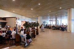 Intérieur d'aéroport de Domodedovo Photographie stock libre de droits
