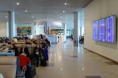 Intérieur d'aéroport de Domodedovo Photos stock