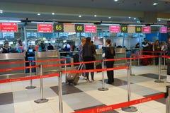Intérieur d'aéroport de Domodedovo Image libre de droits