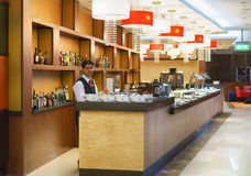 Intérieur d'aéroport de Dubai International Image libre de droits