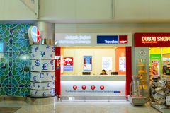 Intérieur d'aéroport de Dubai International Photographie stock