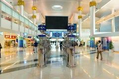 Intérieur d'aéroport de Dubai International Photo libre de droits