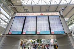 Intérieur d'aéroport de Dusseldorf Images libres de droits