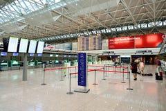 Intérieur d'aéroport de Fiumicino Photos libres de droits