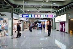 Intérieur d'aéroport de Fiumicino Photographie stock