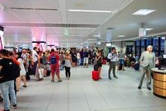 Intérieur d'aéroport de Fiumicino Images stock