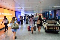 Intérieur d'aéroport de Fiumicino Image libre de droits