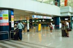 Intérieur d'aéroport de Fiumicino Photo stock