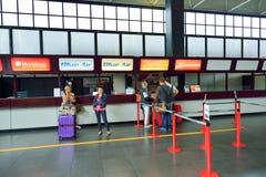 Intérieur d'aéroport de Fiumicino Images libres de droits