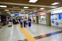 Intérieur d'aéroport de Fiumicino Photos stock